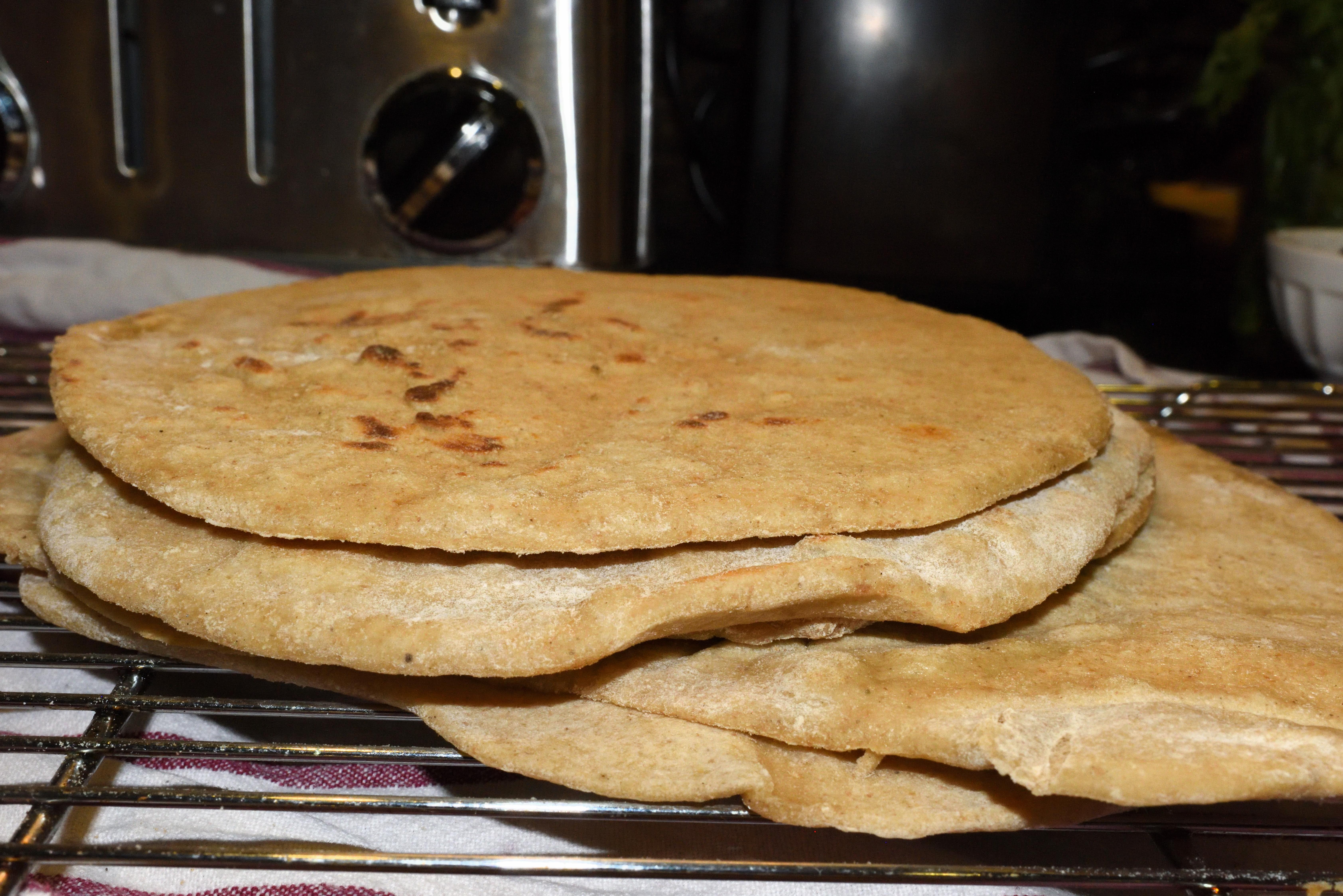 Whole Wheat Sourdough Pita